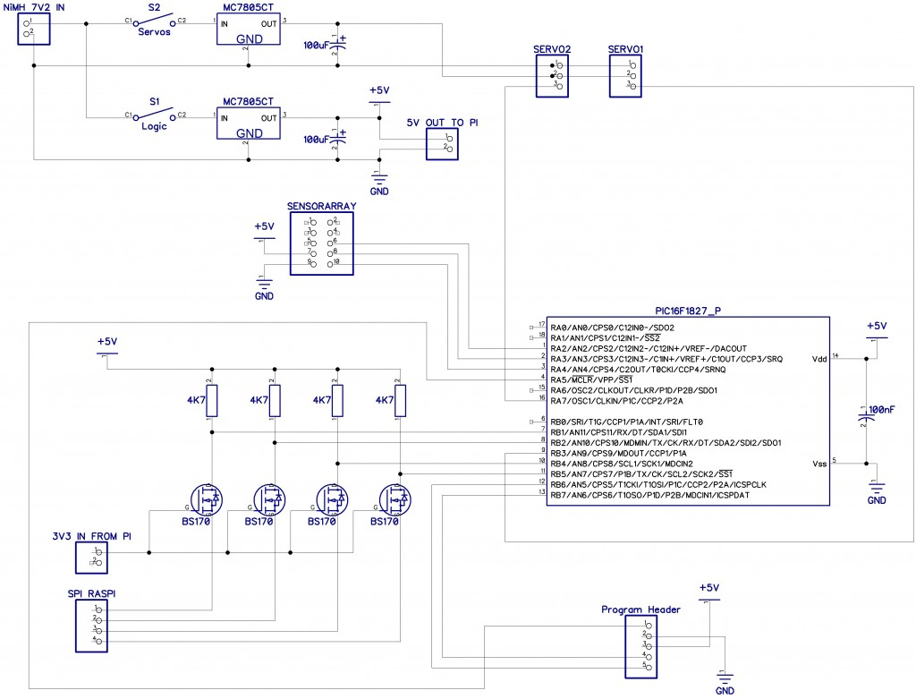 Figure 7 - Circuit diagram for the homebrew RPi SPI controller