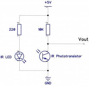 Figure 10 - Circuit diagram for a reflective sensor